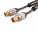 Quality 15m TV Aerial Cable - M-F for Digital TV etc